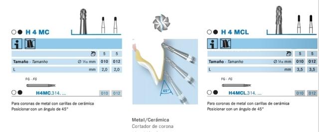 Corte con H4MC y H4MCL