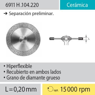 Discos: 6911H.104.220 Cerámica, Separación preliminar