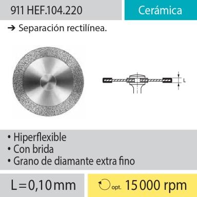 Discos: 911HEF.104.220 Cerámica, Separación rectilínea