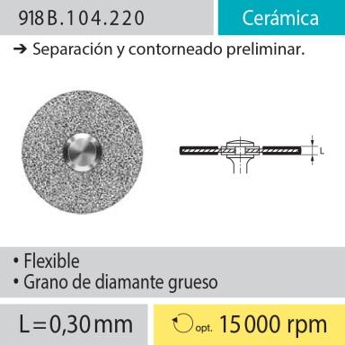 Discos: 918B.104.220 Cerámica, Separación y contorneado preliminar