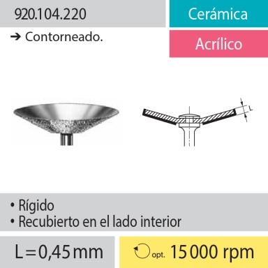 Discos: 920.104.220 Cerámica y Acrílico, Contorneado