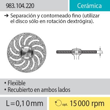 Discos: 983.104.220 Cerámica, Separación y contorneado fino