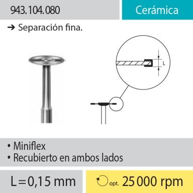 Discos Miniflex: 943.104.080 Cerámica, Separación fina
