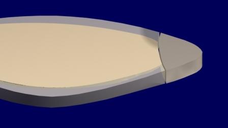 Al colocar la resina compuesta directa (y no antes!!!) aparece la sombra en el esmalte vestibular (el Halo Oscuro).