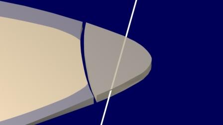 Rayos de luz se pierden hacia Palatino, a través de la Resina Compuesta (como es natural) Se ve una separación entre la Resina compuesta y la estructura dentaria: corresponde al adhesivo.